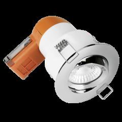 Aurora Enlite EN-DE62PROPC/40 LED Dimmable 6W Fire Rated Tilt Downlight 4000K Polished Chrome Bezel