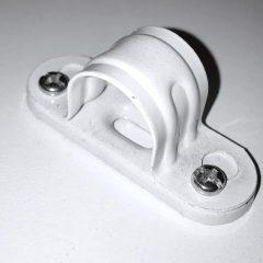 Steel Spacer Bar Saddles White