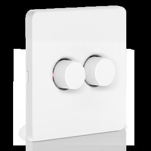 2 Gang Battery Rotary Dimmer