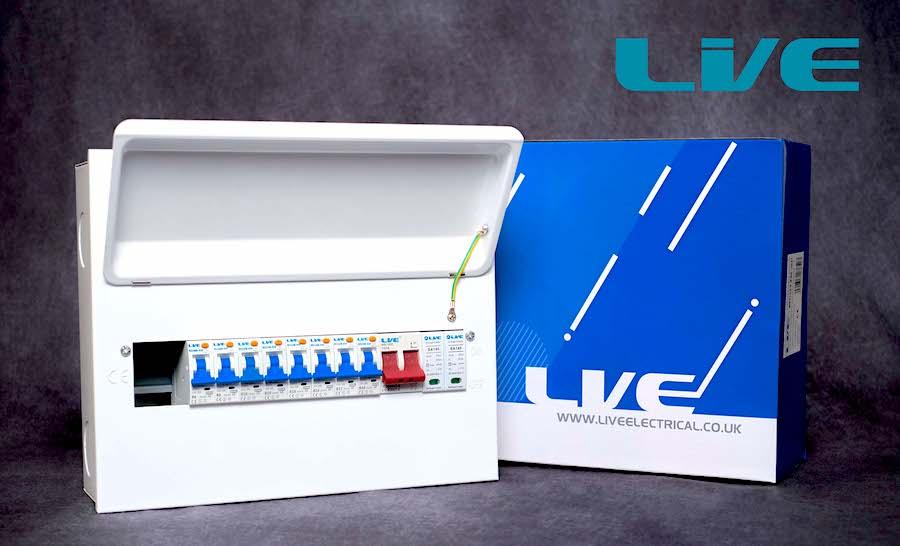 Live Mini RCBO Type A SPD Consumer Unit 8 Way Kit