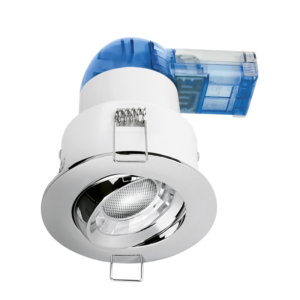 Aurora A62™ Pro Tilted AU-A62PROPC/30 6W Dimmable Fire Rated Downlight Polished Chrome 3000K
