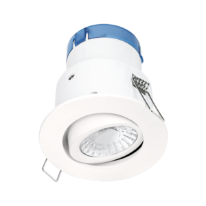 Aurora AU-A62MW/30 6W 610lm Tiltable Dimmable Fire & Acoustic Rated Downlight Matt White 3000K