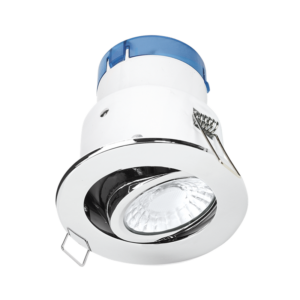 Aurora AU-A62PC/30 6W 610lm Tiltable Dimmable Fire & Acoustic Rated Downlight Polished Chrome 3000K