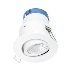 Aurora AU-A62W/30 6W 610lm Tiltable Dimmable Fire & Acoustic Rated Downlight White 3000K