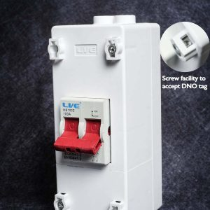 Live Electrical 100A 2 Pole Mains Supply Isolator and Enclosure PEN2100